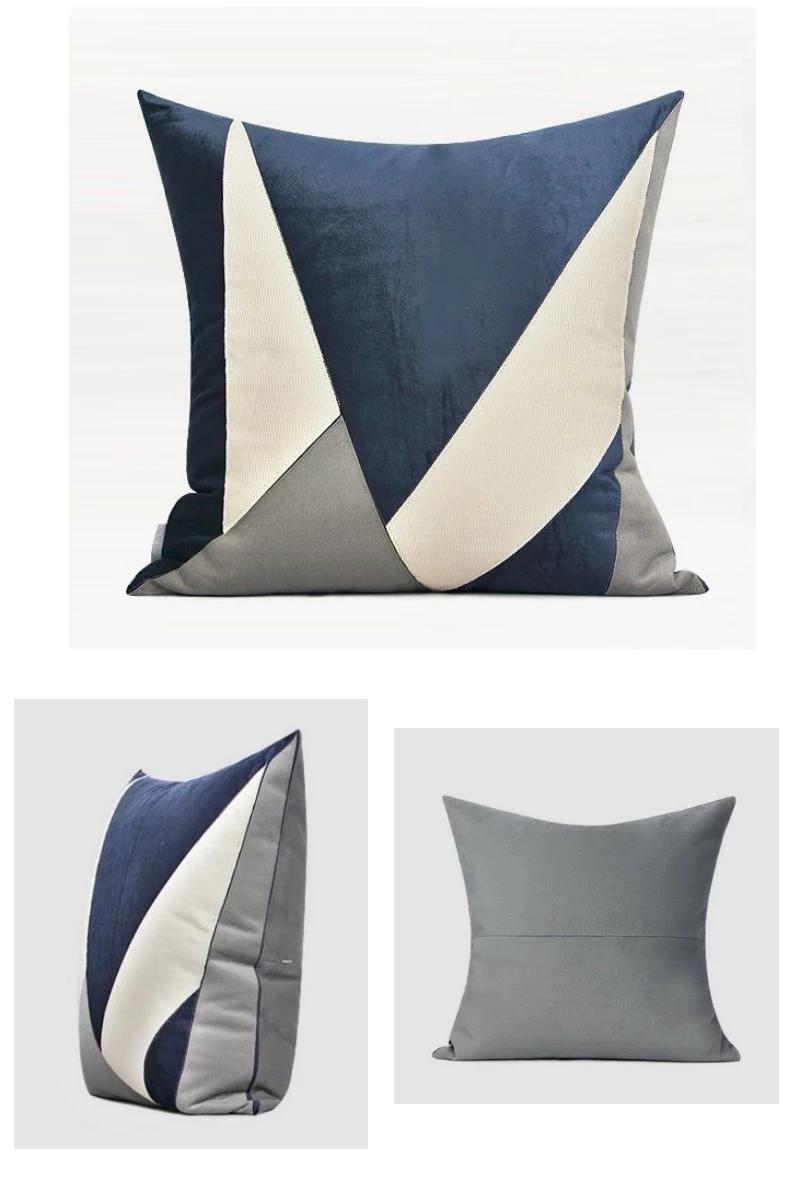 Blue White Gray Simple Style Modern Throw Pillow Sofa Pillows Couch Pillows Home Decor Modern Throw Pillows Throw Pillows Couch Pillows