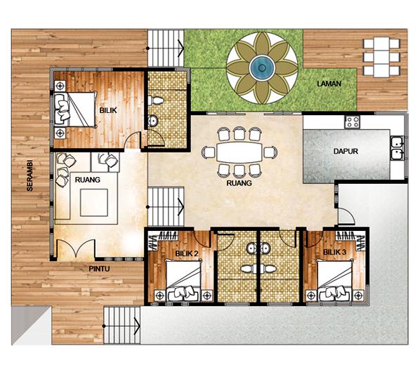 Plan Rumah 5 Bilik Tidur Desainrumahid