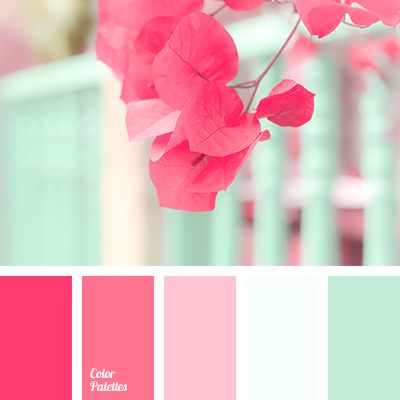 Bright fresh mint color should be complemented with shades of crimson to create an original color combination Use these colors when decorating your apart