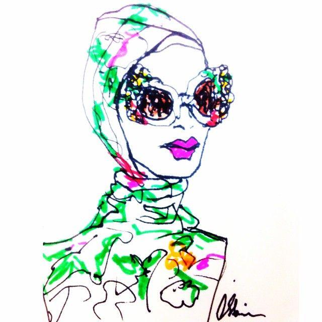 Silken turbans & vast glitter sunglasses  @dolcegabbana #ITALIAISLOVE #holiday  #italy #italiandream #amalficoast #mfw #dolceandgabbana #romance #silk #flowers #pizza #pasta #fashionweek #fashionistas #fashion #fashionillustration #illustration #sketch #drawing #csteien #art #artist #ladonna #ragazza #vogue #ellemagazine #dolcegabbana #DGss16 #DGfamily