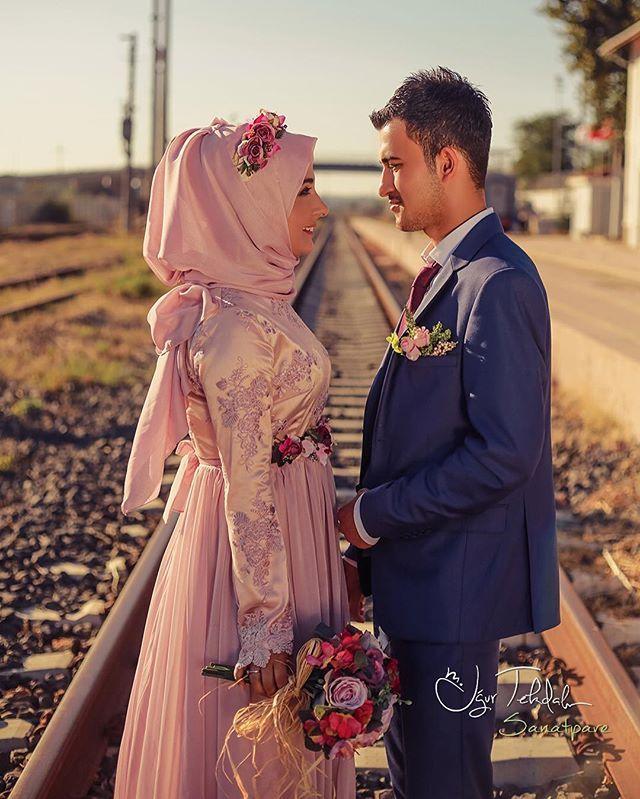 Bride & Groom Picture | Beautiful Simple & Sweet Turkish Bridal Look | Turkish Couple | InstaPic