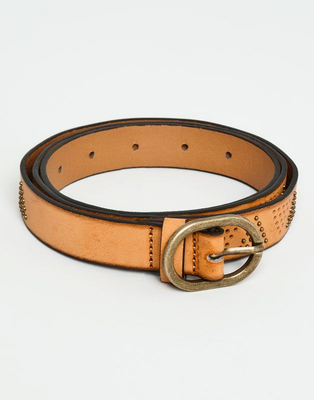 :DYED LEATHER BELT