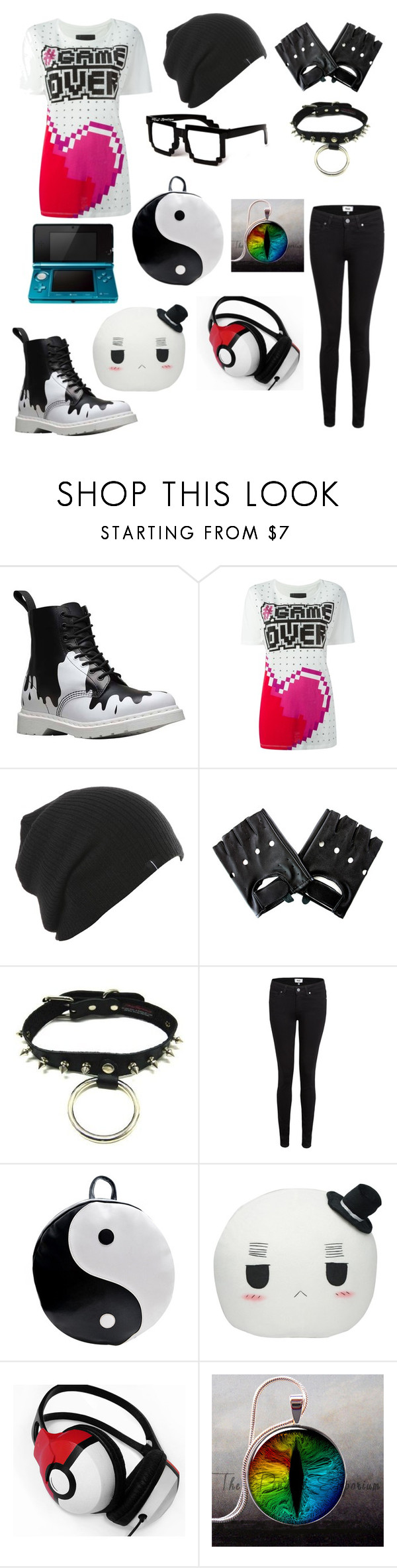 """Sit back an chillax my friend"" by scorpio-queen ❤ liked on Polyvore featuring Dr. Martens, Philipp Plein, Paige Denim, Chicnova Fashion and Retrò"