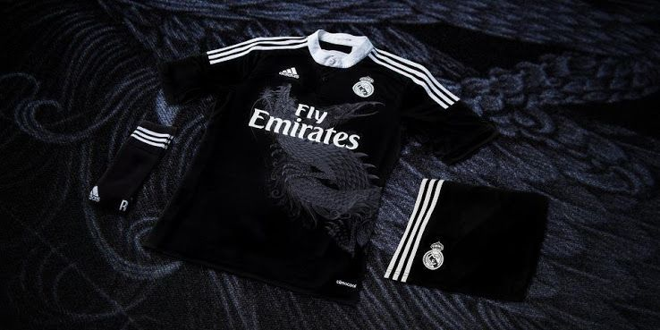 Real Madrid 14 15 Yamamoto Dragon Third Kit Wp Adidas Wp Real Madrid Shirt Real Madrid Real Madrid Third Kit