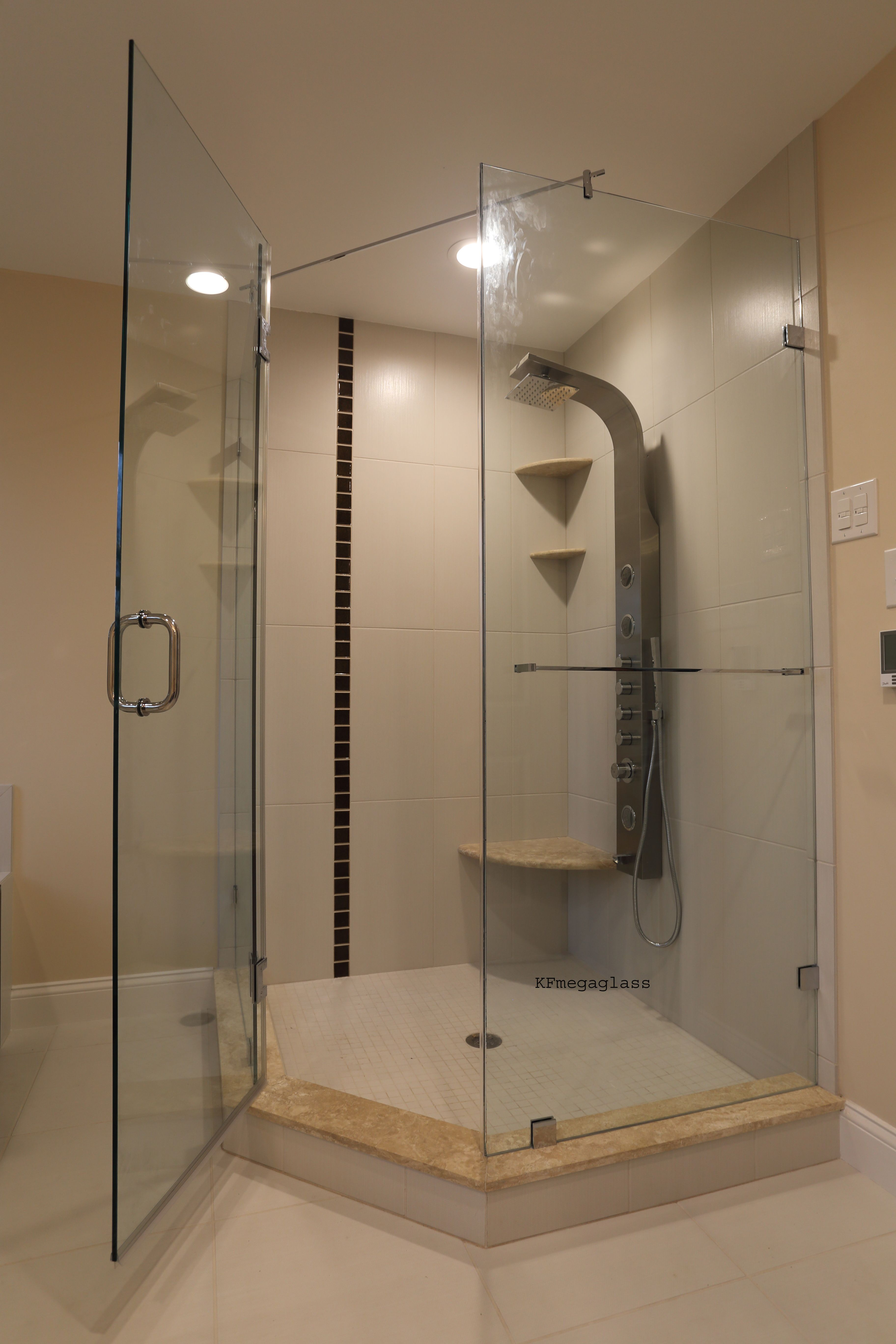 Unlike shower curtains, shower enclosures keep water away from the ...