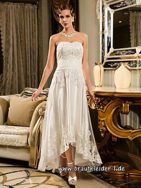 Asymmetrisches Perlen Vintage Brautkleid 2018 im Brautkleider-Shop ...