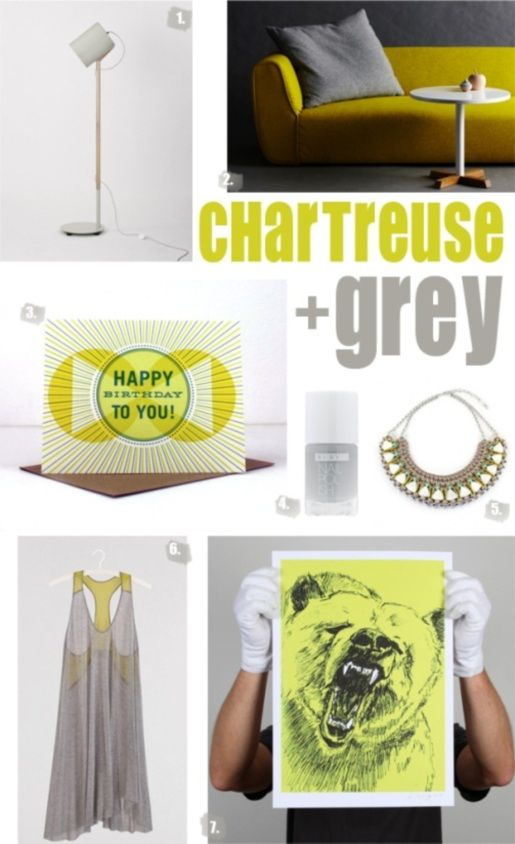 on the blog today: chartreuse + grey from Studio Home