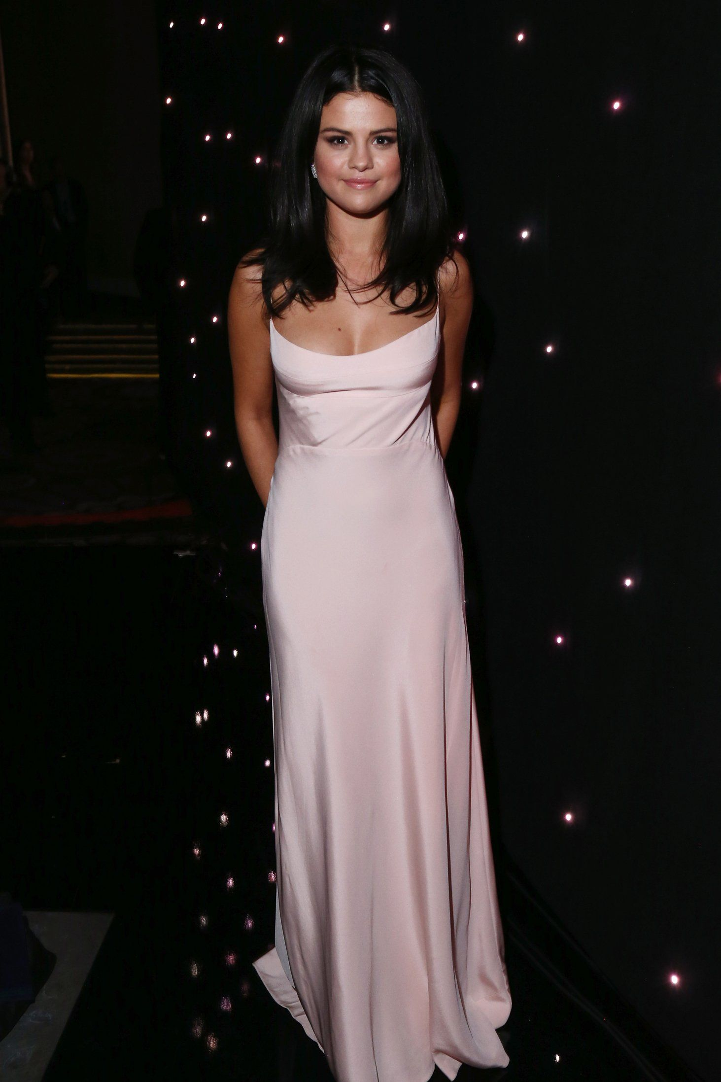 47445b8a85e The Best Red Carpet Style at the Hollywood Film Awards: Selena Gomez in  Narciso Rodriguez and Dauphin jewelry
