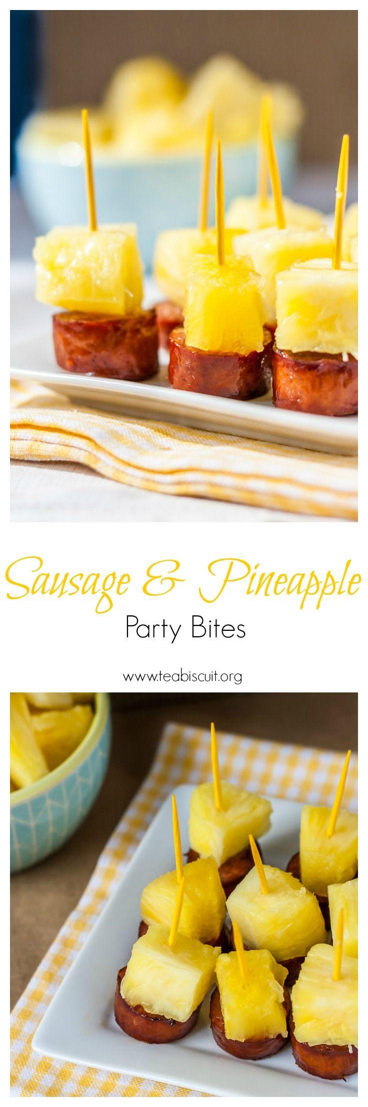 Sausage and Pineapple Party Bites   Recipe   Sausage