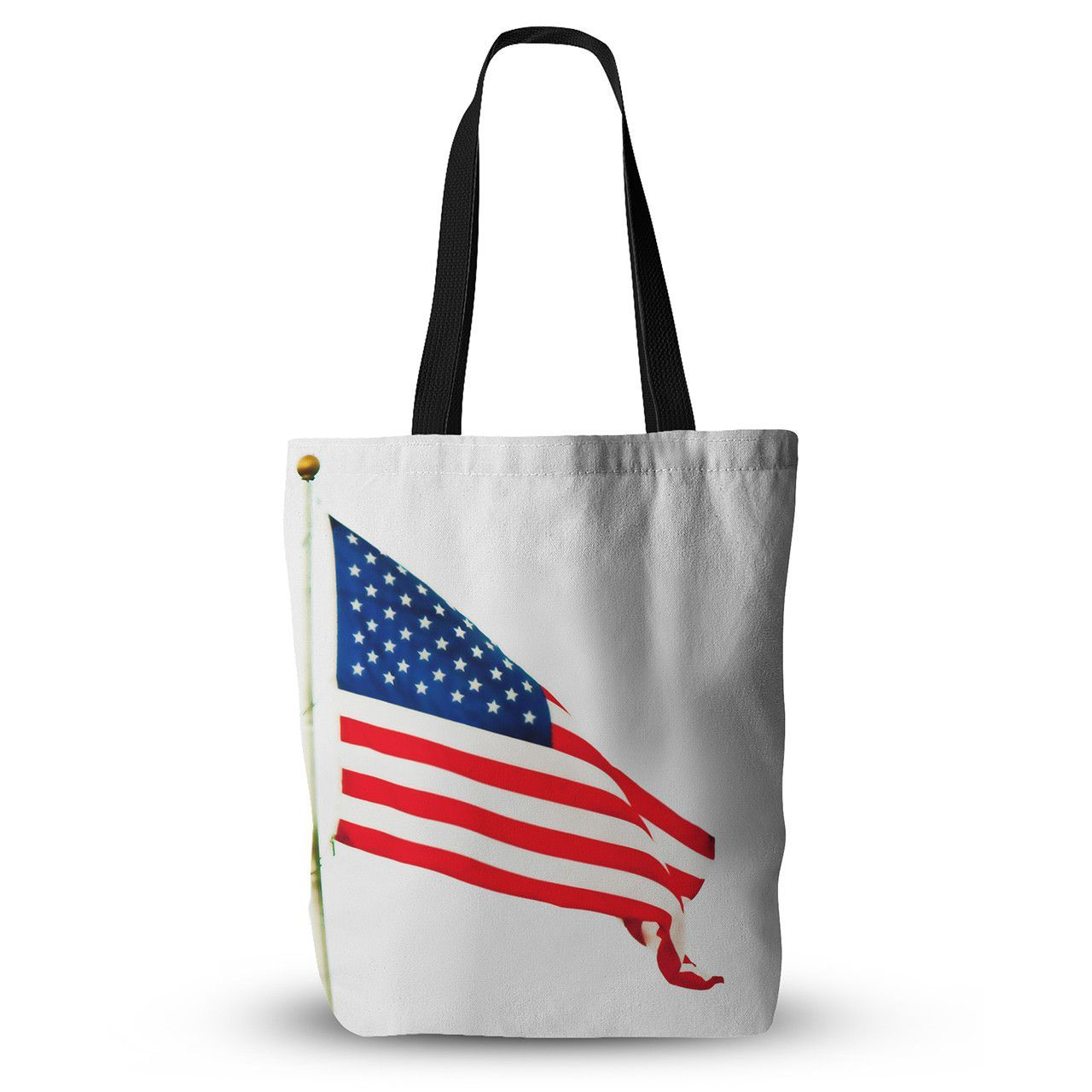 "Sylvia Coomes ""American Flag"" Red Holiday Everything Tote Bag"