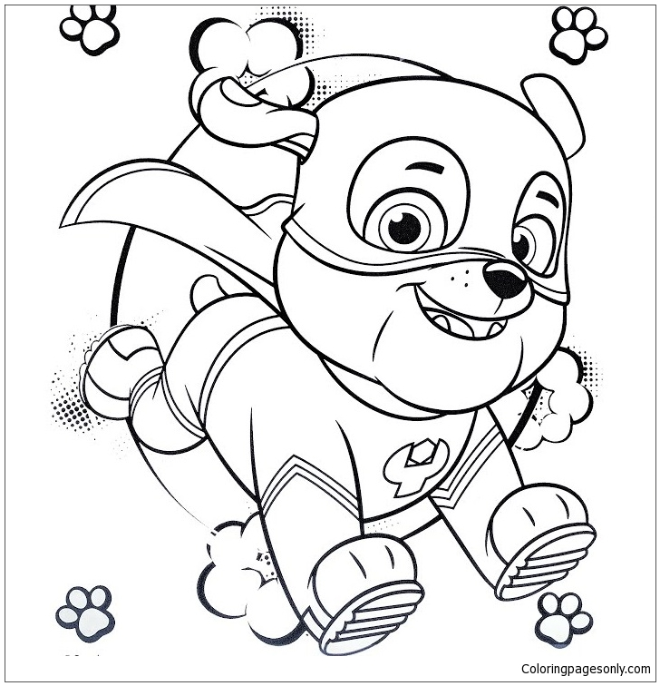 Super Hero Rubble Paw Patrol Coloring Page Free Coloring Pages Online Paw Patrol Coloring Pages Paw Patrol Coloring Free Coloring Pages