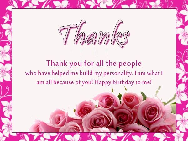 Thanks You Everyone For The Birthday Wishes Thanks Birthday Wishes