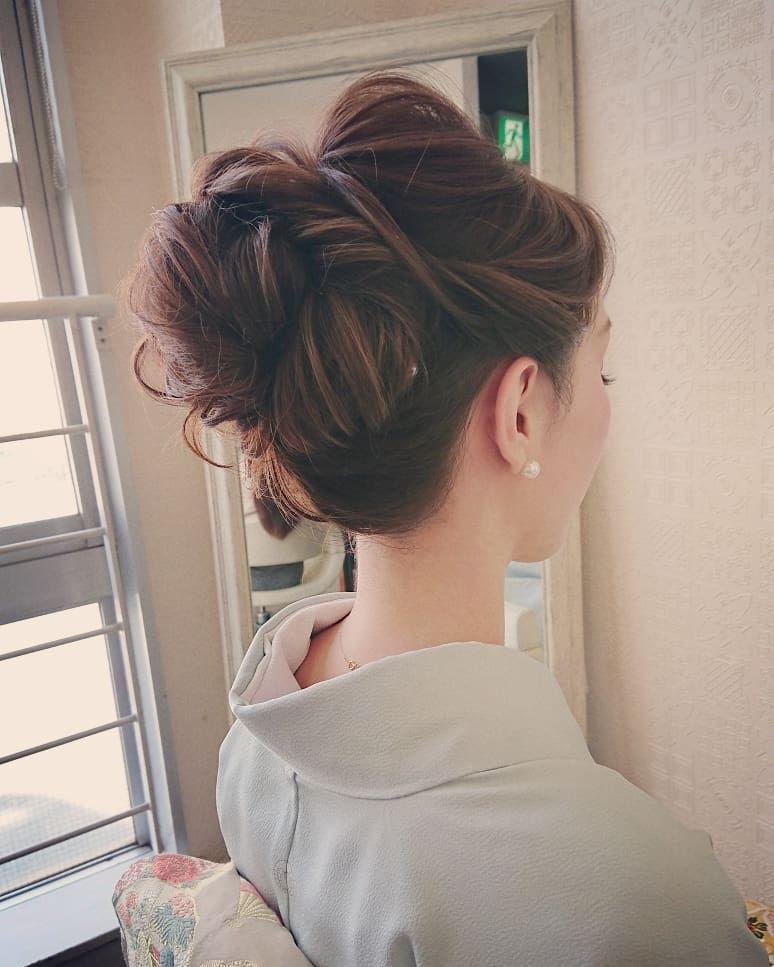 美しい髪型 なんと、綺麗な華奢な首筋✨ 白く透き通るお肌