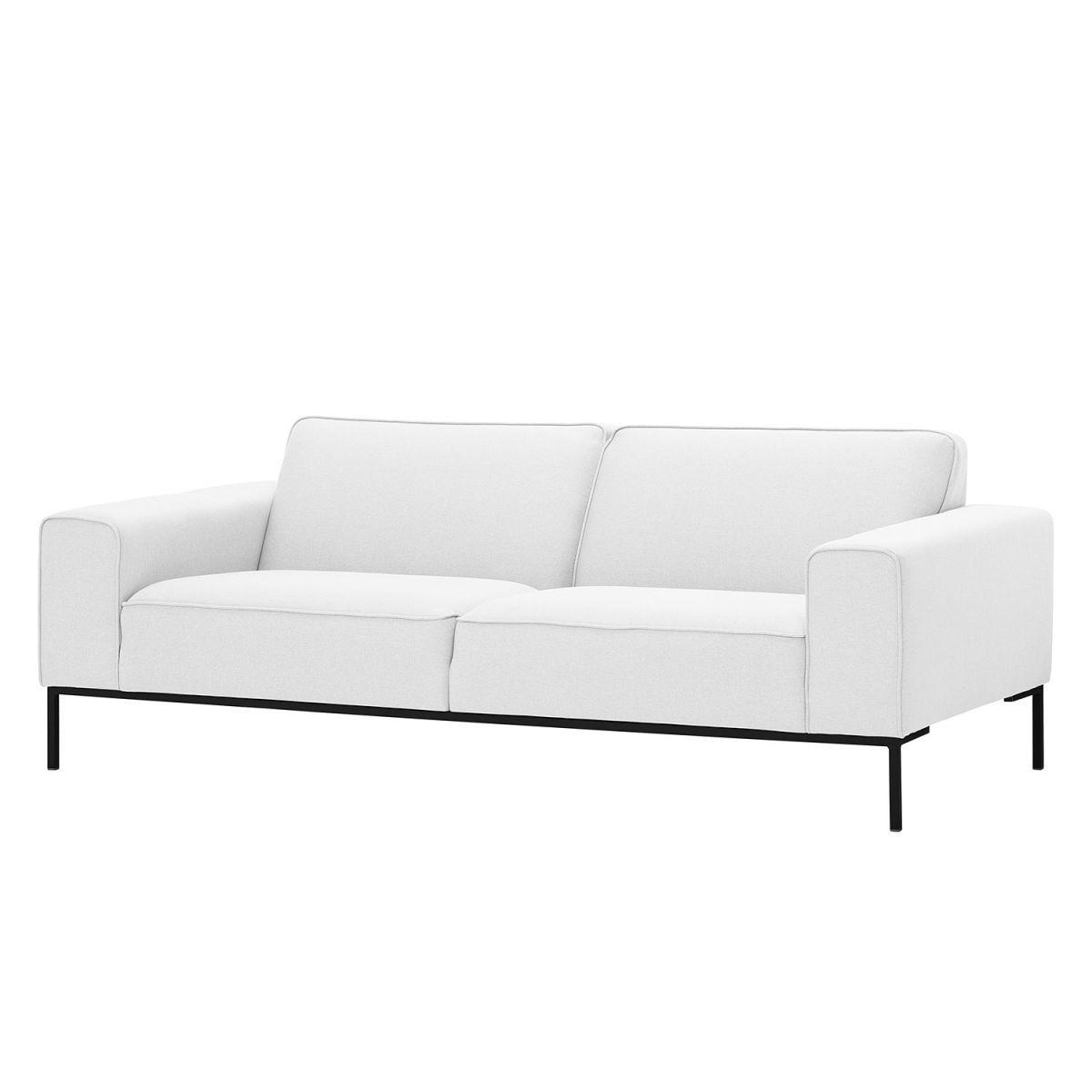 Sofa Ampio (3-Sitzer) Webstoff - Schwarz - Stoff Floreana Weiß Jetzt ...