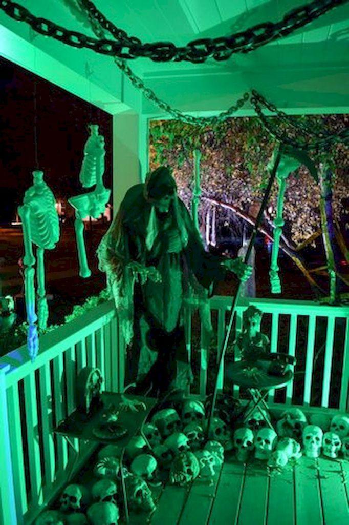 80 + CREEPY OUTDOOR HALLOWEEN DECORATION IDEAS (12 Haunted house - outdoor halloween ideas