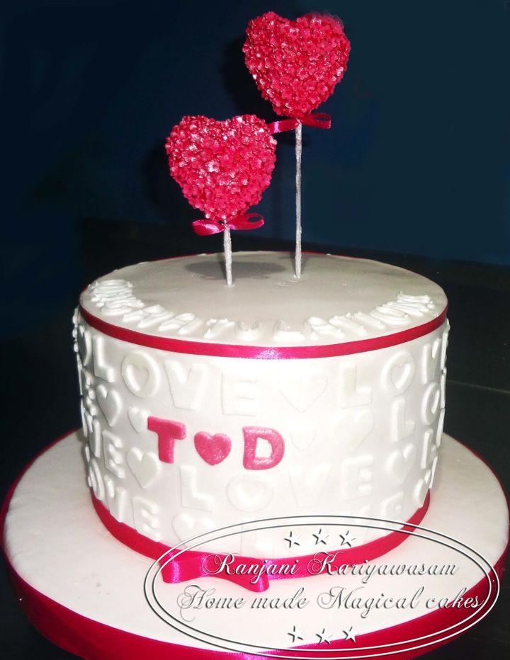 Single tier engagement cake 3kg of fresh Orange cake By my