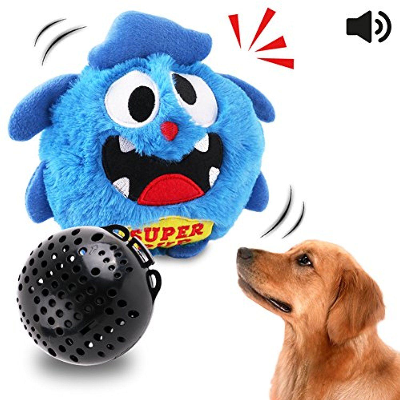 Dog Toys Interactive Plush Squeak Giggle Ball Automatic Shake