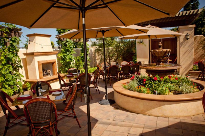 Not A Winery But Great Restaurant To Try When You Re Visiting Lodi Wineries This Is The Real Deal Outdoor Garden Patio At Pietro S In Ca