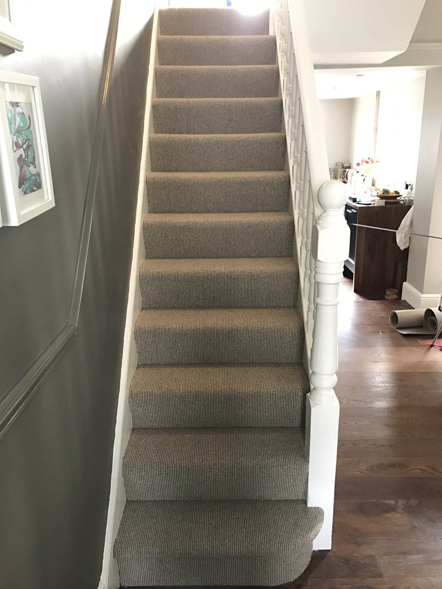 Best Add A Neutral Carpet On The Stairs To Brighten Up The 400 x 300