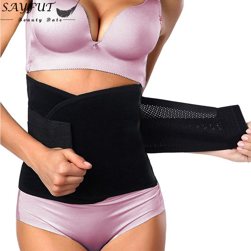 5fd3a95c1ae76 Women Waist Trainer Belt Belly Band Belts Hot Body Shaper After Birth Slim  Belt Corset Postpartum Tummy Trimmer Body Fat Burne