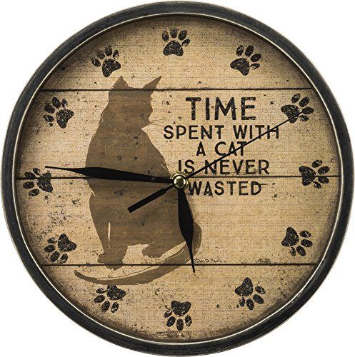 Cat Kitchen Decor   Cat Clock  Primitives By Kathy Time With Cats Clock