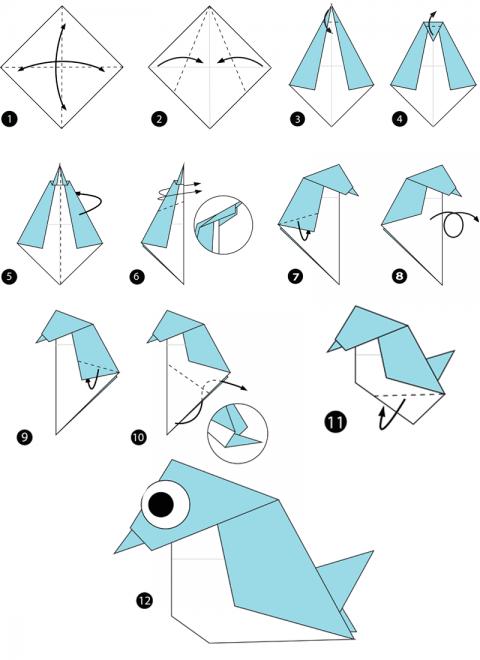 origami vogel anleitungen zum nachbasteln  geolino
