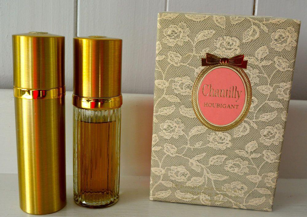 Vintage CHANTILLY HOUBIGANT Perfume & Spray Bath Oil Rare