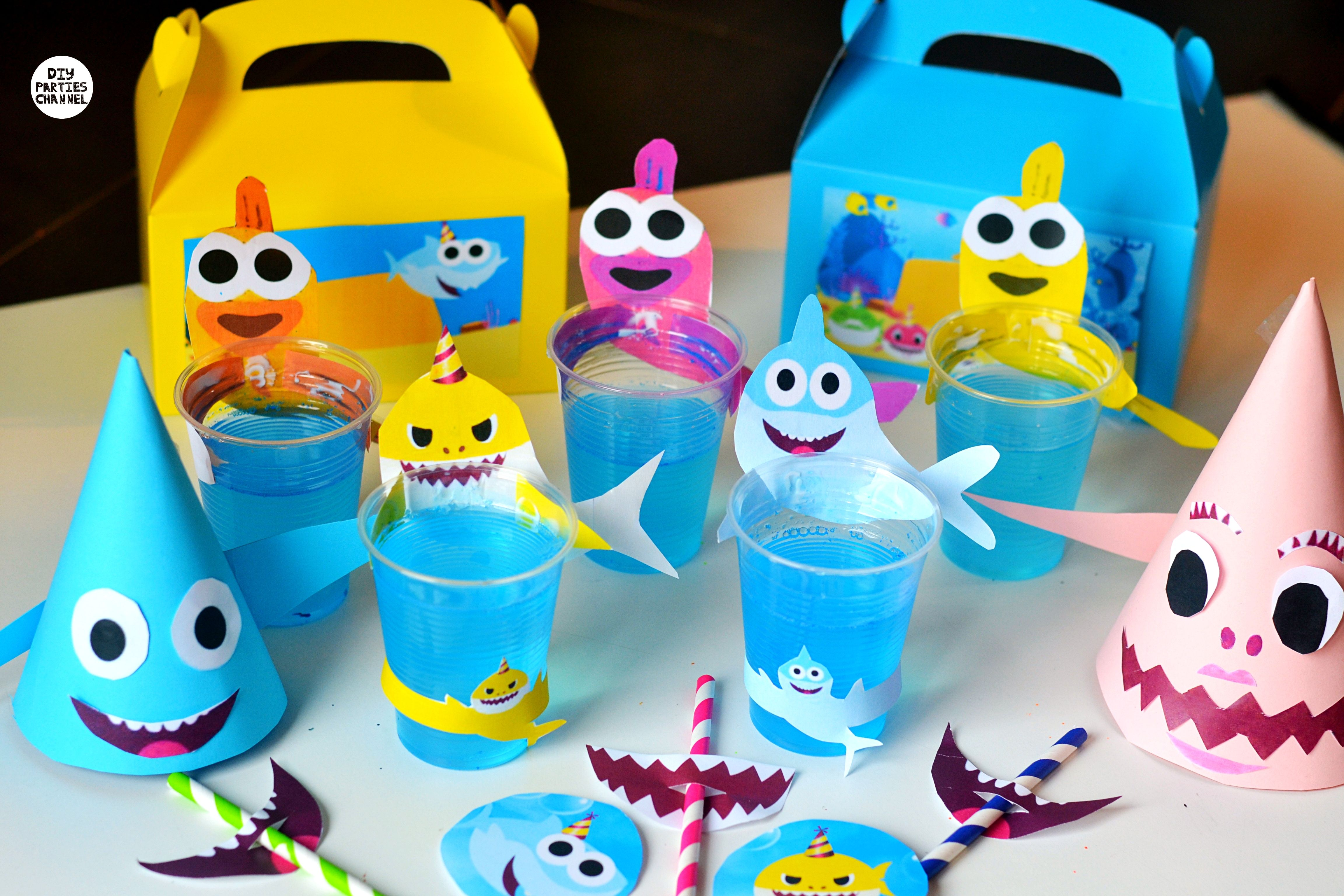 Diy Baby Shark Party Pingfong Simple Songs Shark Birthday Party Baby Shark Shark Party