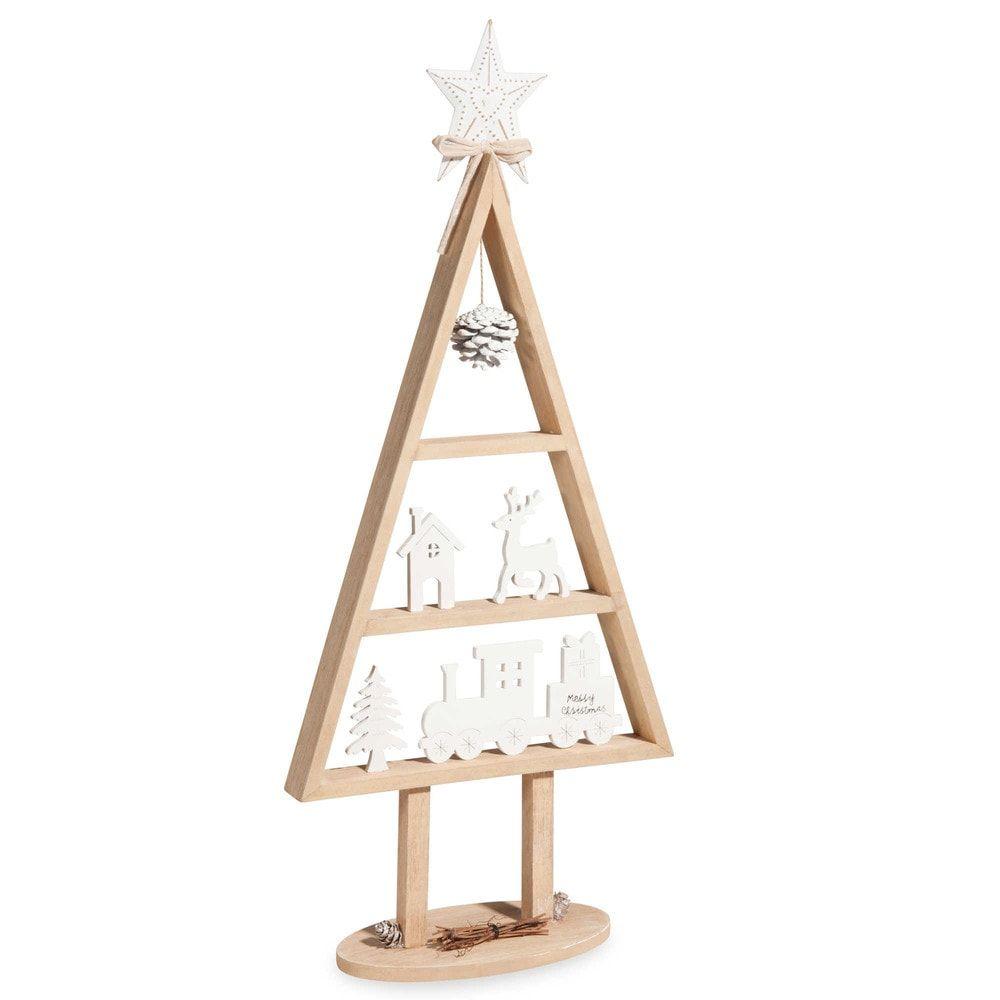 Sapin De Noël En Bois H 59 Cm