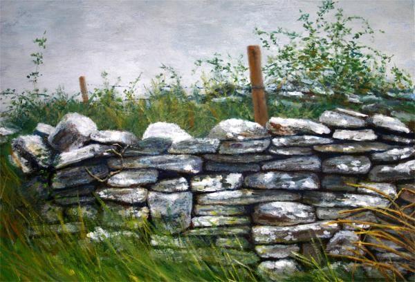 Stone Wall Painting Fine Art Print