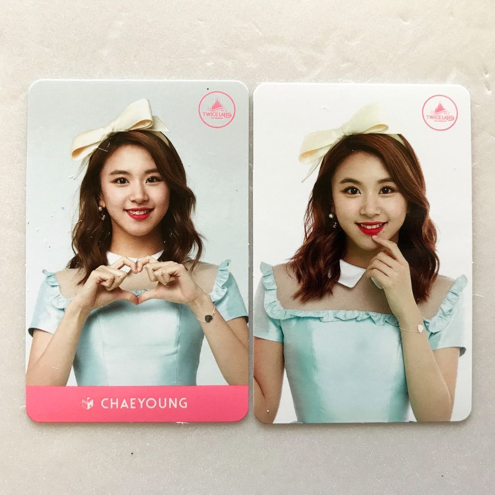 20 TWICE 2nd Album PAGE TWO Cheer Up Lenticular Card Chaeyoung PhotoCard K-POP