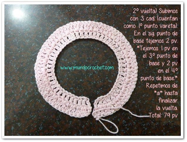 Chaleco a Crochet Para Bebé con Canesú Redondo Paso a Paso   BEBE ...