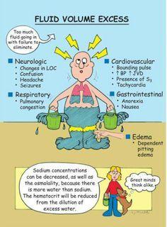 Fluid volume excess | Nursing School Stuffs | Med surg ...