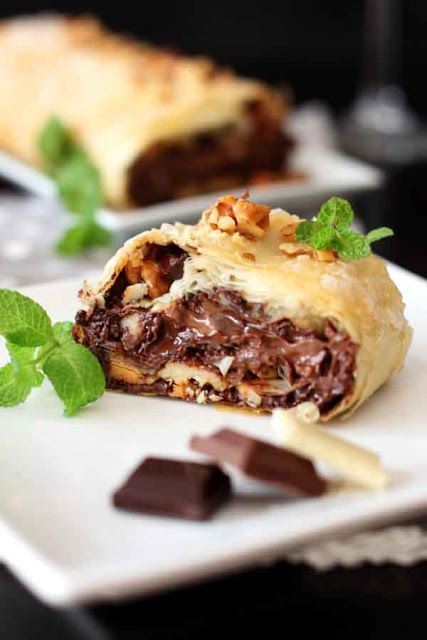 Sweetstasy three chocolates and nuts strudel via tumblr food forumfinder Image collections