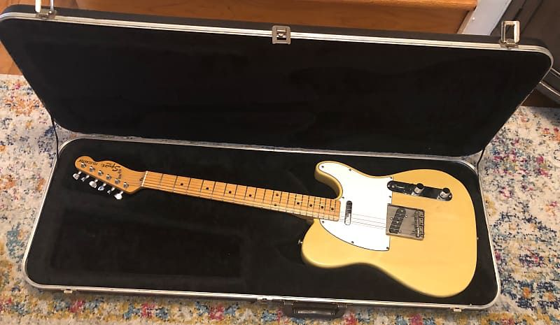 Fender Japan Squier Sq Telecaster Blonde W Ohsc 1983 1984 Mij Nickvickcorporation S Gear Garage Reverb Fender Japan Telecaster Squier