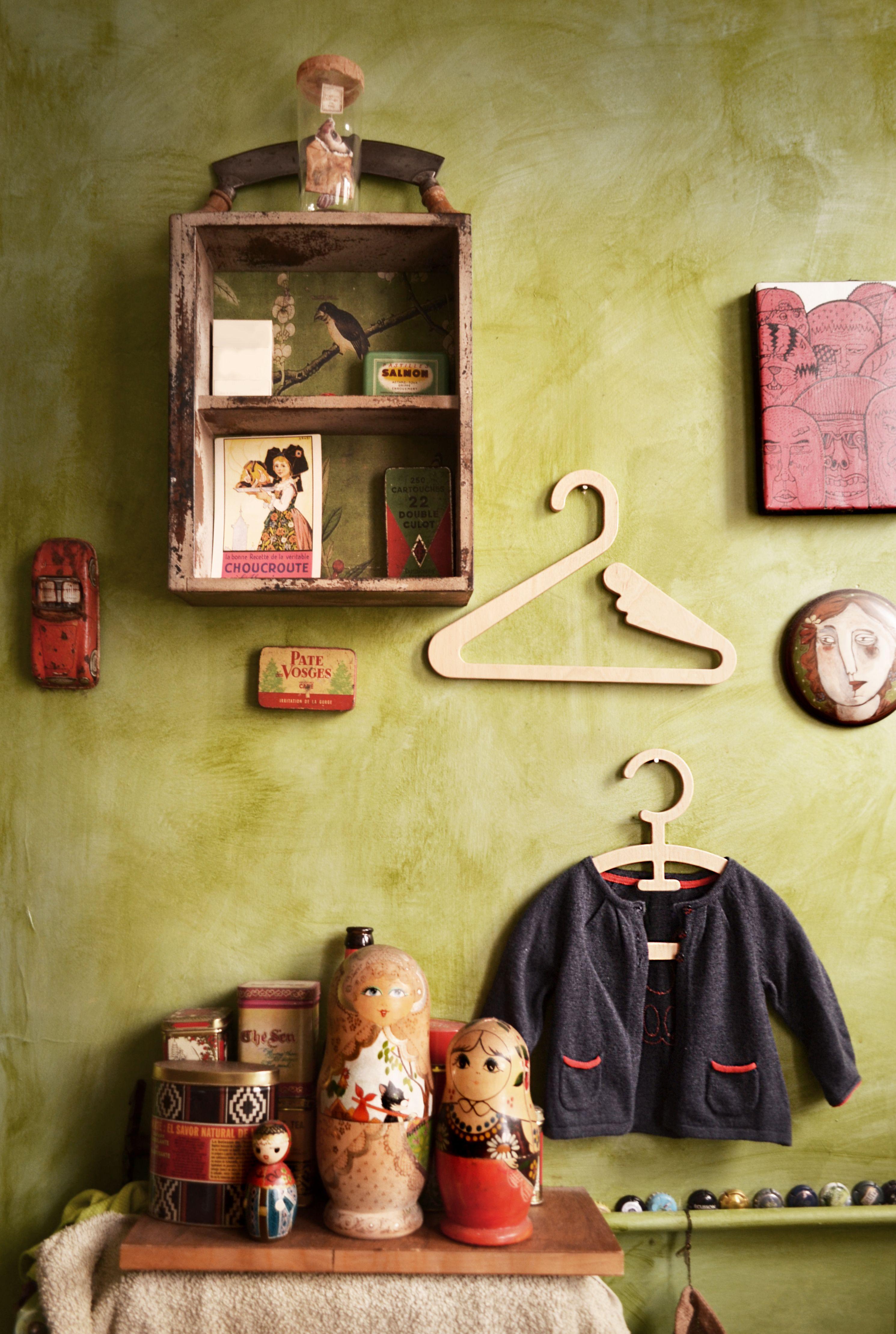 """Swan"", ""BroumeBroum"" Kids wooden hanger BANANA YOLK Design. ecofriendly handmade design"