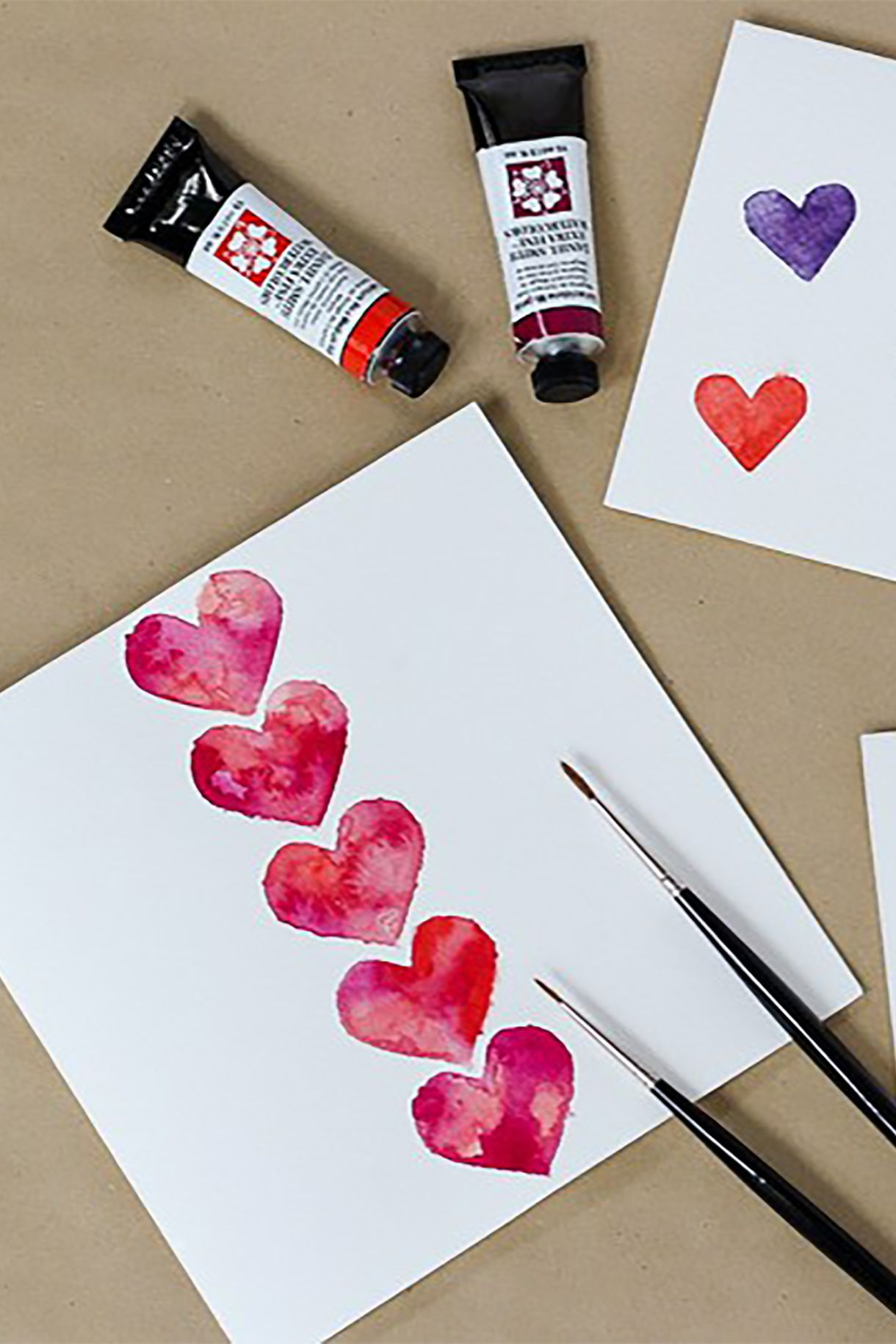 Masked Watercolor Heart Cards Make A Card Monday 270 With