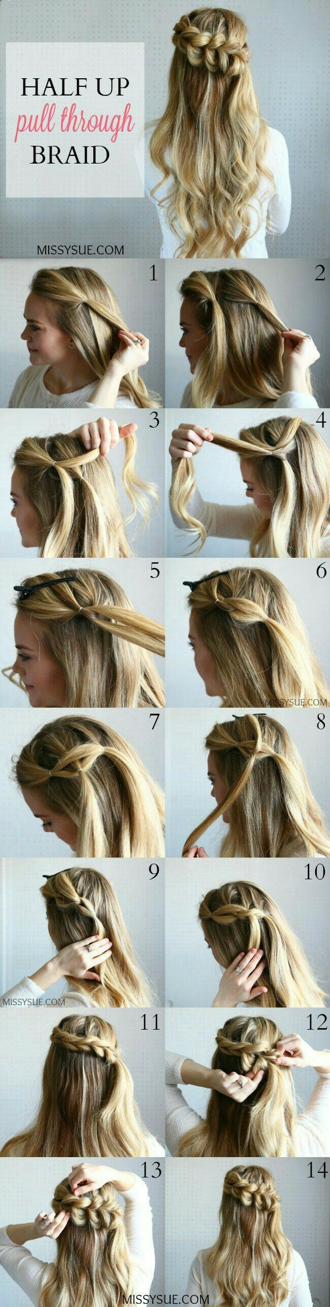 Pretty but easy hairstyle penteados pinterest easy hairstyles