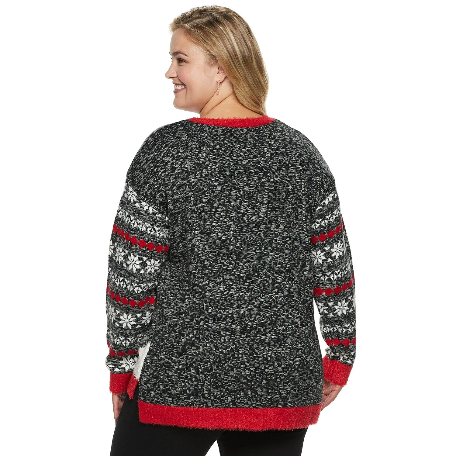 2f0196ac417 Plus Size Women s Holiday Crewneck Sweater  Women