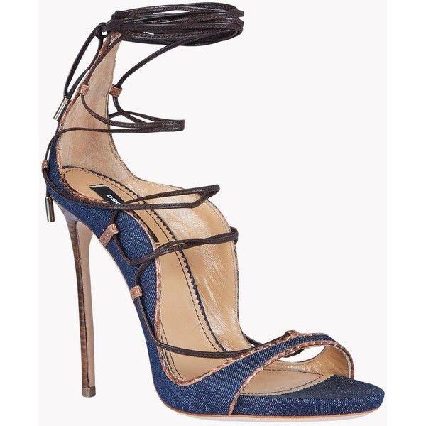 Dsquared2 Denim Lace Up Riri Sandals, High Heeled Sandals