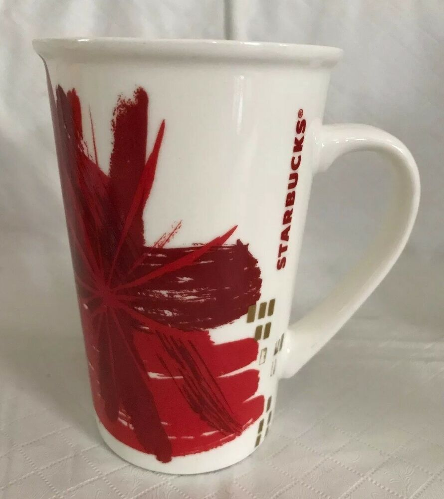 Starbucks Christmas Holiday Tall Latte Coffee Cup Red