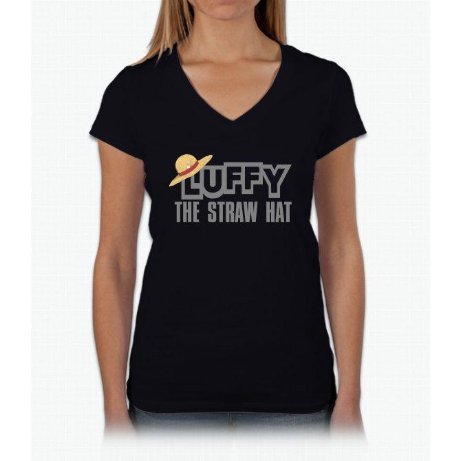 Luffy The Straw Hat One Piece Twenty One Womens V-Neck T-Shirt