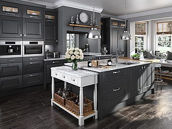 Grey Kitchens LShaped Kitchen Units At Trade Prices DIY - Grey kitchen units sale