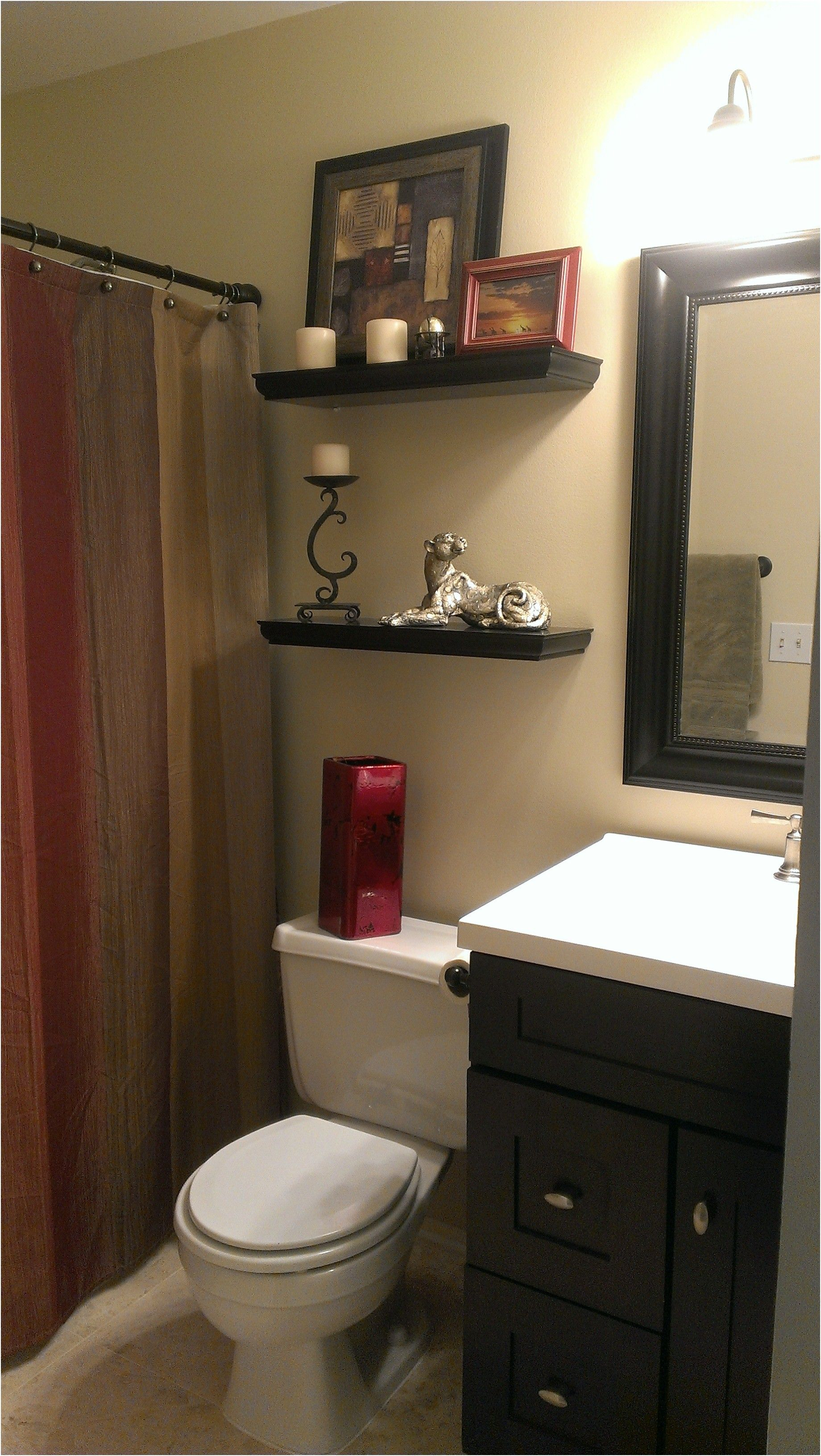 Small Bathroom With Earth Tone Color Scheme Ourhandiwork From Schemes
