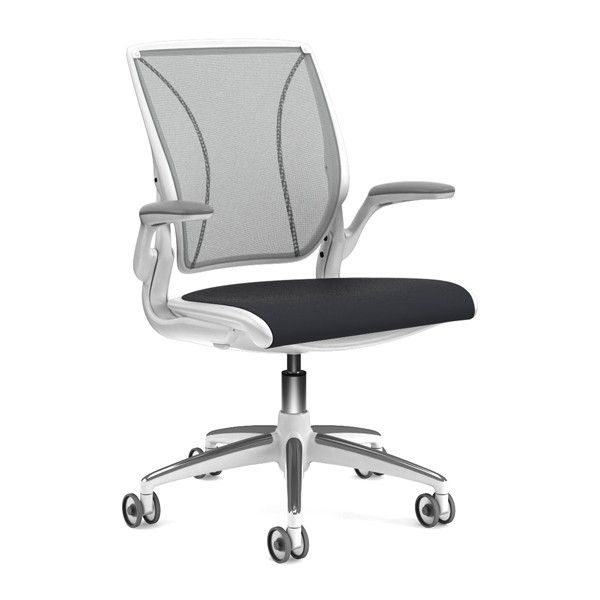 849 White Platinum And Light Grey Humanscale World Chair For