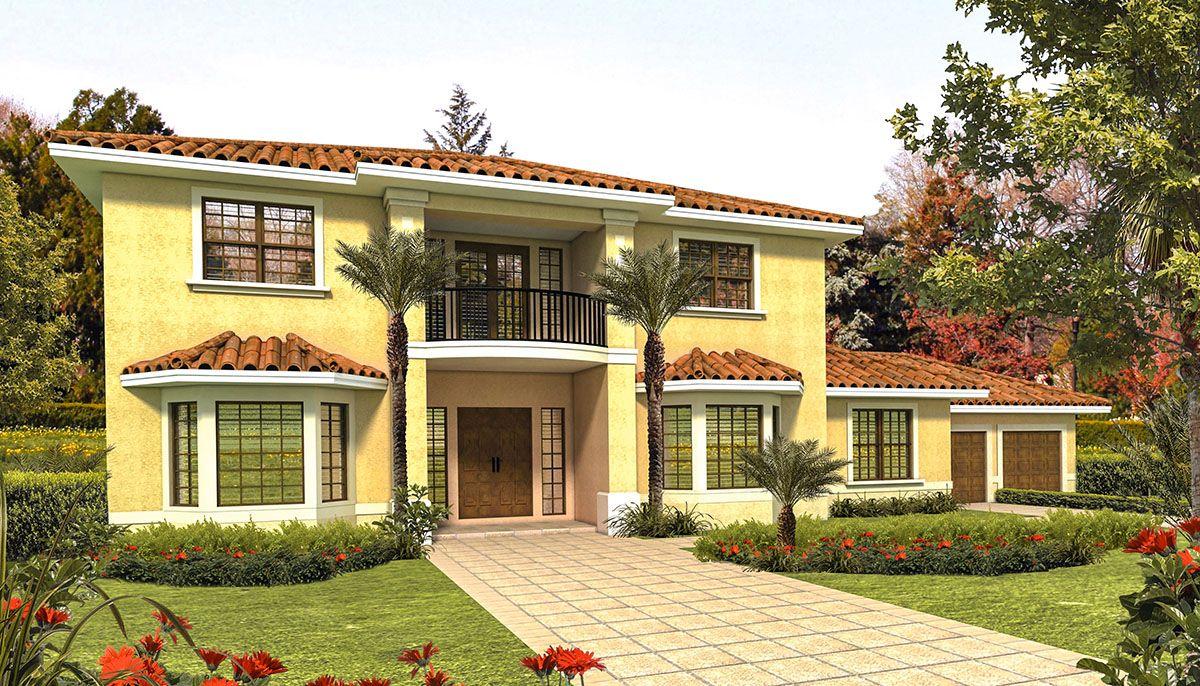 Plan 32149aa Charming Tidewater Design In 2021 Mediterranean Style House Plans Mediterranean Homes Mediterranean House Plans