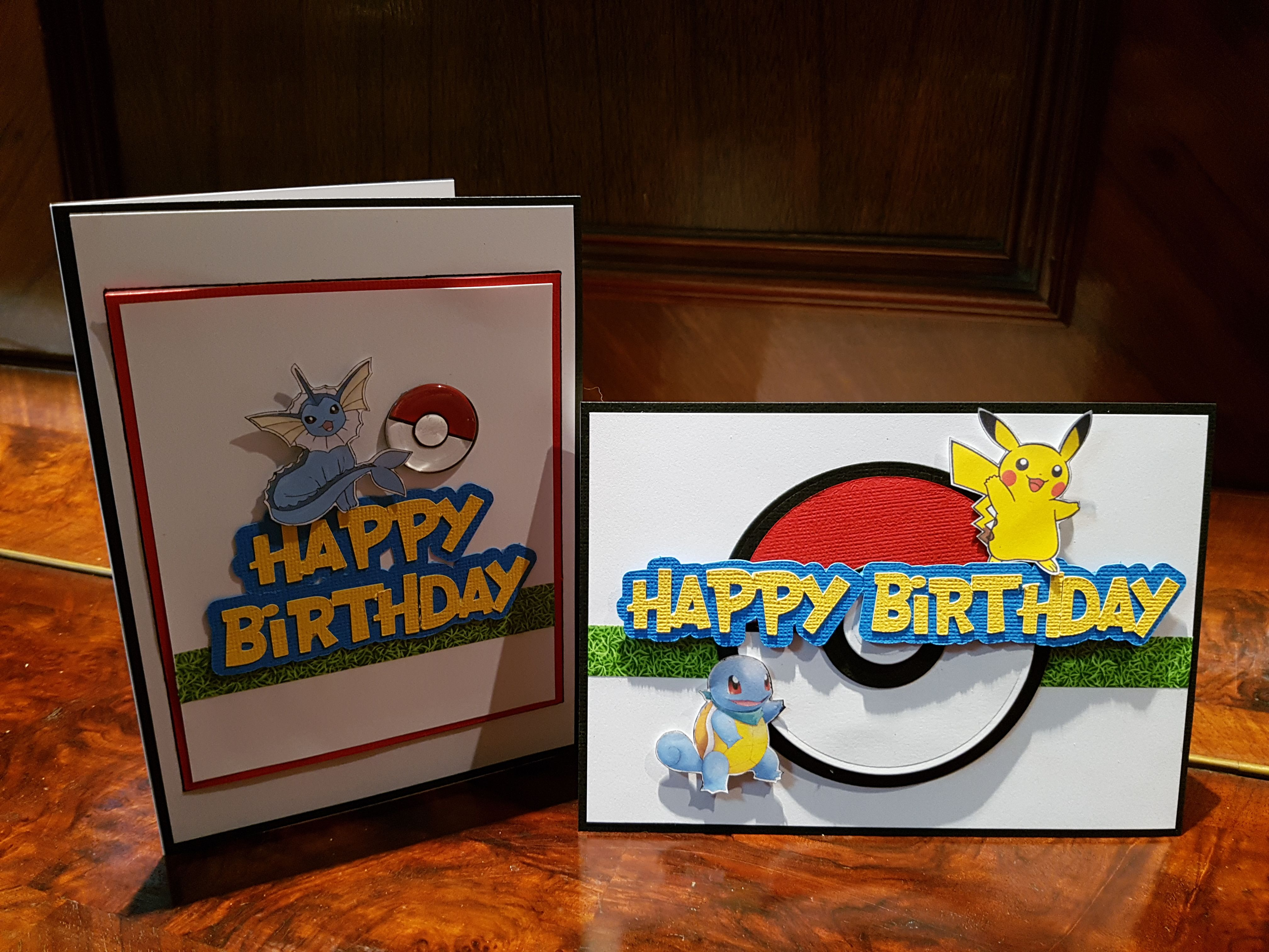 Handmade Pokemon Themed Birthday Cards Process video is on my