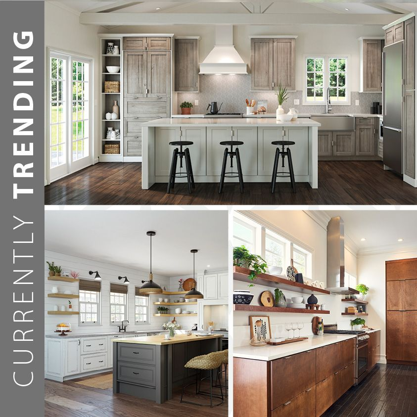 Open shelving adds functional personality to any space. One of today's hottest trends, learn how to use open shelving to create incredible interest—in today's blog. #waypointlivingspaces #kitchencabinets #kitchenremodel #openshelving #kitchendesign #kitcheninspiration #kitchenrenovation #kitchenstyle