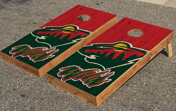 Minnesota Wild Hockey Cornhole Boards By Cornholetherapy