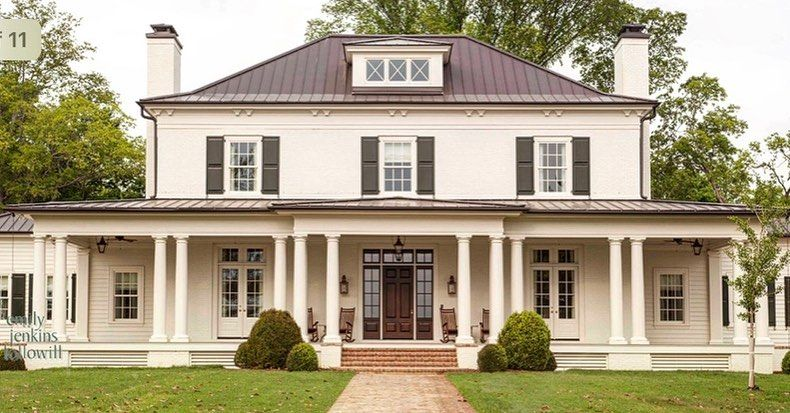 "Stephen Fuller Inc on Instagram ""This elegant custom farmhouse designed by Stephen Fuller sits on 400 acres in Tennessee Inspired by its simplicity and charm Stephen…"""